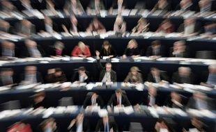 Le Parlement de l'UE à Strasbourg en France, le 14 janvier 2014