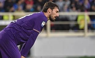 Davide Astori lorsz de Fiorentina-Roma, le 5 novembre 2017.