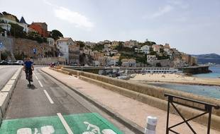 La nouvelle piste cyclable sur la Corniche Kennedy de Marseille
