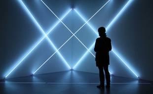 Une oeuvre de François Morellet lors de l'exposition «Dynamo» au Grand Palais à Paris en 2013