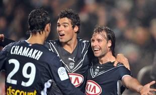Marouane Chamakh, Yoann Gourcuff et Fernando Cavenaghi (de g. à d.) lors de Bordeaux-PSG en janvier 2009.