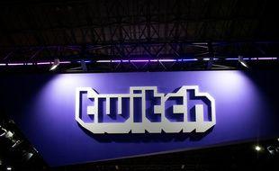 Le logo de Twitch au Tokyo Game Show 2018.