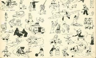 La page de garde bleu foncé de Tintin vendu aux enchères à un prix record