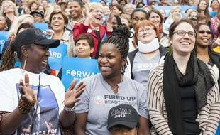 Des supportrices d'Obama, le 19 octobre 2012.