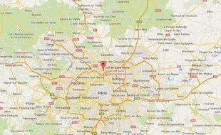 Localisation de l'IUT de Saint-Denis
