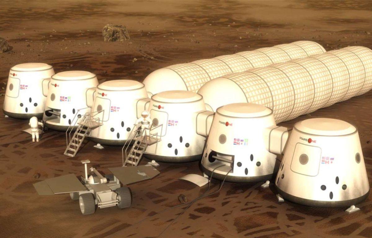 Vue d'artiste du projet de colonie de Mars One. – Mars One / EyePress / Newscom / Sipa