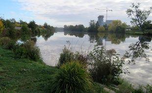 La Vilaine, ici à hauteur du quartier Baud-Chardonnet, à Rennes.