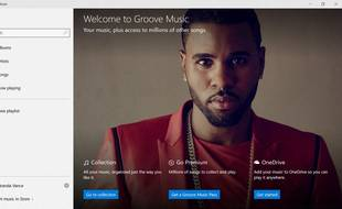Groove Music, le service musical de Microsoft.