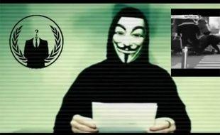 Une capture d'écran de la vidéo d'Anonymous après les attentats du 13 novembre 2015.