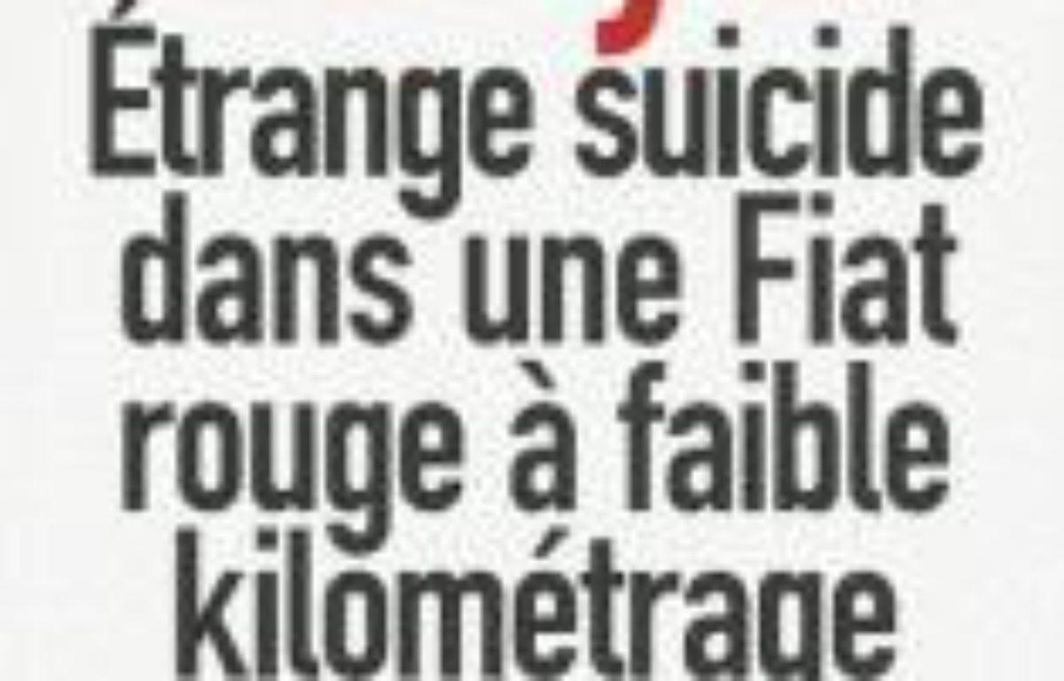 Etrange suicide dans une Fiat rouge à faible kilométrage – Le choix des libraires