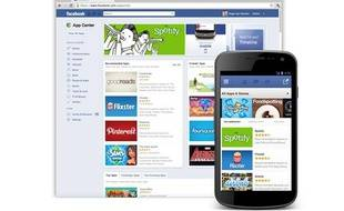 Un aperçu de l'App Center, boutique d'applications de Facebook.