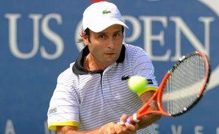 Fabrice Santoro lors de son dernier match à l'US Open le 3 septembre 2009.