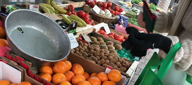 Un marché de la Côte d'Azur. (illustration)