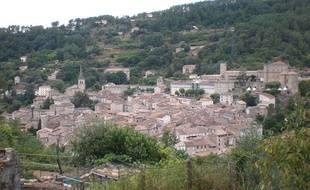 La commune de Largentière en Ardèche