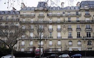 L'hôtel particulier parisien de Teodorin Nguema Obiang, dans lequel ont été saisis 200 m3 de biens de valeur, le 14 février 2012