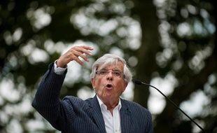 Jean-Pierre Chevènement, le 22 août 2010, lors de la Fête de la rose organisée par le socialiste Arnaud Montebourg à Frangy-en-Bresse.