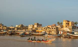 La ville de Saint-Louis, au Sénégal.