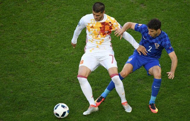 Alvaro Morata, buteur lors d'Espagne-Croatie, le 21 juin 2016.