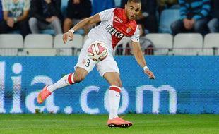 Layvin Kurzawa lors du match entre Nantes et Monaco le 24 août 2014.