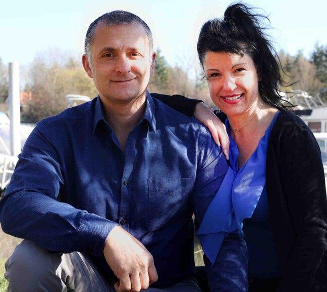 Christophe Martin et sa femme Michèle.