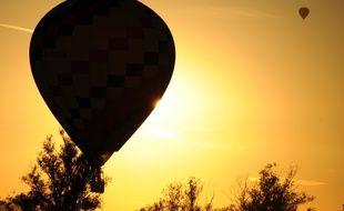 Une montgolfière (illustration).
