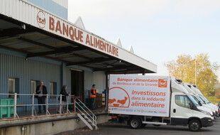 Les entrepôts de la banque alimentaire de Bordeaux. Illustration.