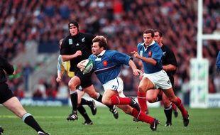 Christophe Dominici lors du fameux France-Nouvelle Zélande en demi-finale de la Coupe du monde 1999.