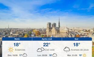 Météo Paris: Prévisions du samedi 18 septembre 2021