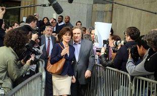 Jacqueline Bisset et Gérard Depardieu sur le tournage du film d'Abel Ferrara, vendredi 3 mai 2013 à New York.
