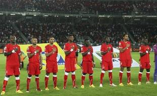 L'équipe de Guinée Equatoriale, le 22 janvier 2012 à Bata.