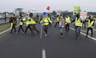 Lors d'une manifestation des gilets jaunes à Saint-Nazaire, en janvier 2019