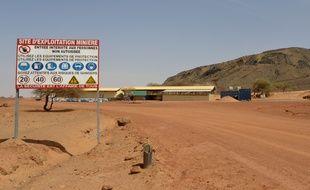 L'entrée de la mine de manganèse ou a été enlevé Iulian Ghergut à Tambao, au Burkina Faso.