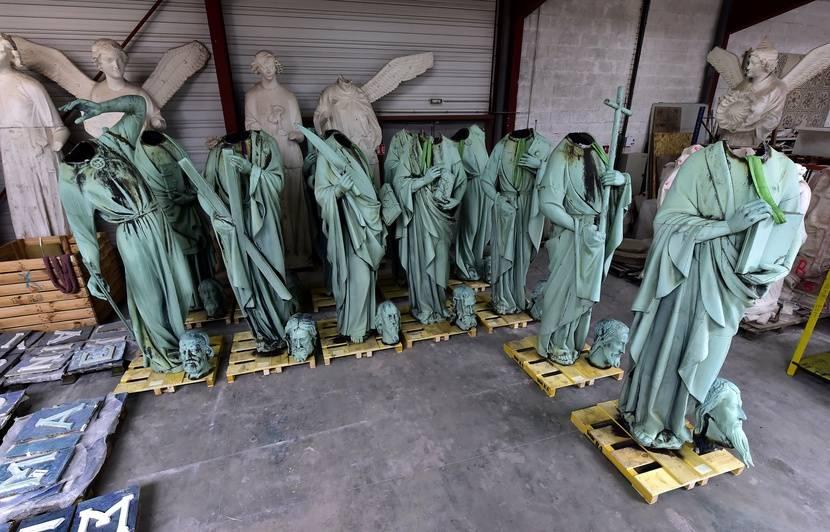 VIDEO. Incendie à Notre-Dame de Paris: Seize statues venaient d'être décrochées pour être restaurées en Dordogne