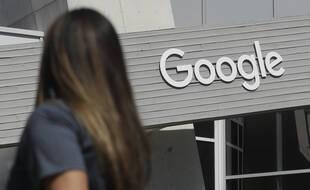 Le logo Google en Californie.
