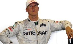 Michael Schumacher lors du GP d'Abu Dhabi en novembre 2012.