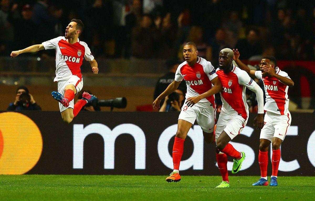 Les joueurs de Monaco heureux après un but face à City – SIPA
