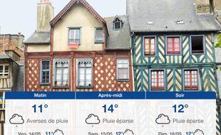 Météo Rennes: Prévisions du jeudi 13 mai 2021