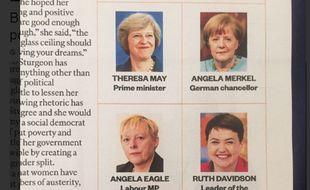 L'infographie publiée par l'hebdomadaire The Sunday Times a suscité la colère de nombreuses élues en Grande-Bretagne.