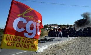 L'accès à la raffinerie de Fos-sur-Mer bloqué le 23 mai 2016 par des militants CGT