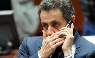 Nicolas Sarkozy au sommet de l'UE le 11 décembre 2009