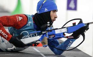 Martin Fourcade lors du sprint de biathlon des JO de Pyeongchang, le 11 février 2018.