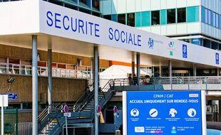 Le bâtiment de la Sécurité Sociale au Mans.