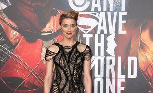 L'actrice Amber Heard à l'avant-première de Justice League