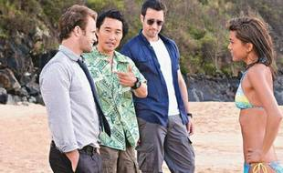 Les quatres acteurs principaux de la série «Hawaii Five-0»: Scott Caan, Daniel Dae Kim, Alex O'Loughlin et Grace Park.