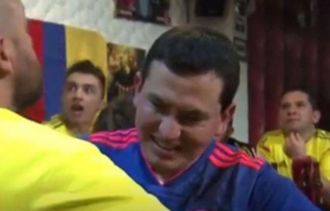 VIDEO. Coupe du monde 2018: Aveugle et sourd, un fan colombien vit les matchs grâce à un ami