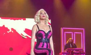 La chanteuse Katy Perry en concert à Doha au Qatar