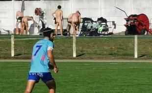 Lors du match entre les seniors de Saint-Jory et du TEC, un club toulousain.