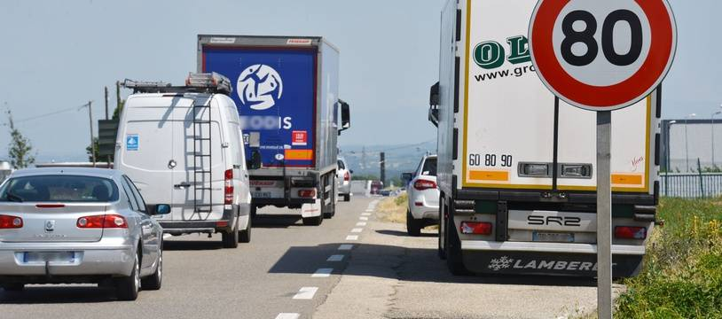 Une route limitée à 80 km/h (illustration).