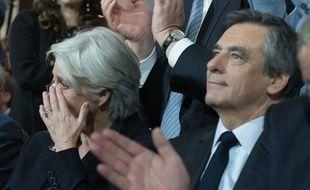 Penelope et François Fillon au meeting présidentiel de La Villette à Paris, le 29 janvier 2017.