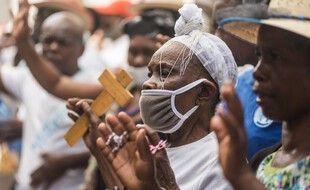 Une messe à Port-au-prince, à Haïti, le 2 avril 2021 pour Pâques.